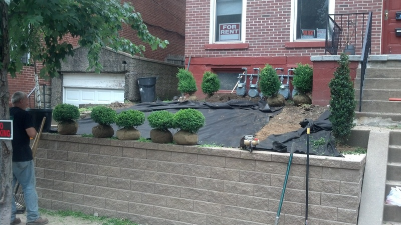 Completed Wall & Landscaping