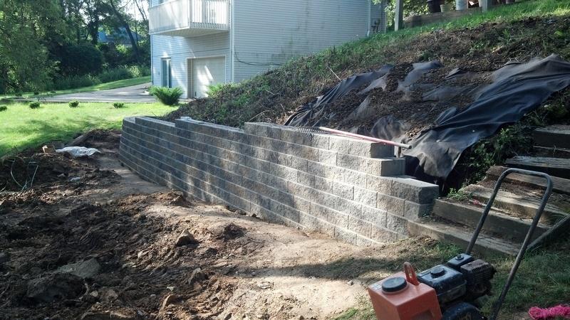 Upper Wall Being Built